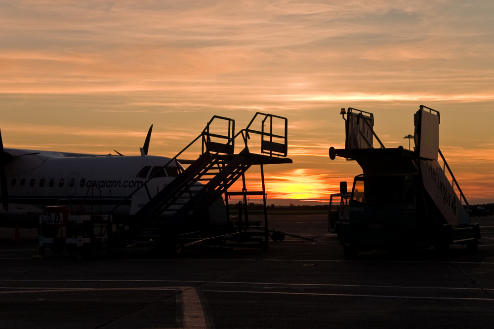 Landung am Airport in Dublin